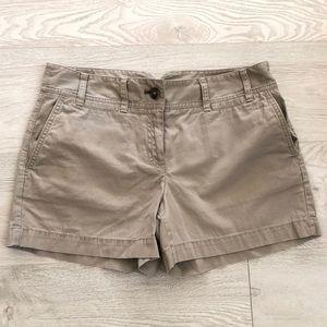 Ann Taylor LOFT Women's Casual Cotton Tan Shorts